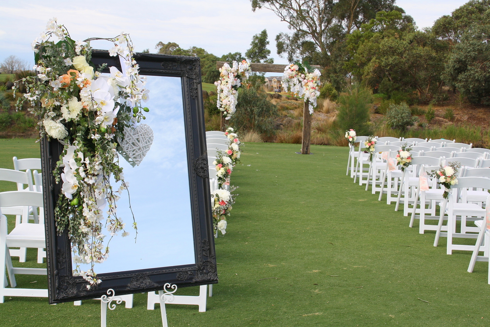 Wedding Function venue Patterson River Golf Club outdoor ceremony 1